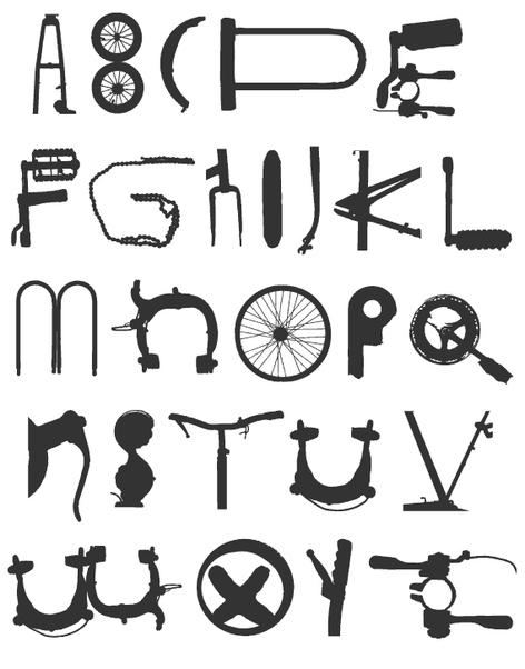 Wielertermen fiets alfabet